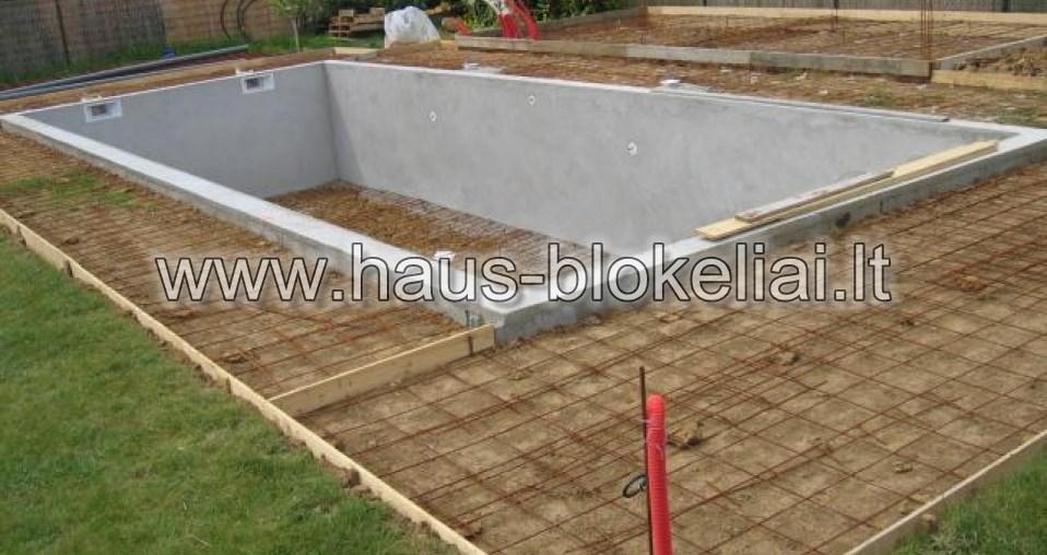 10 aplink baseina betonuojama