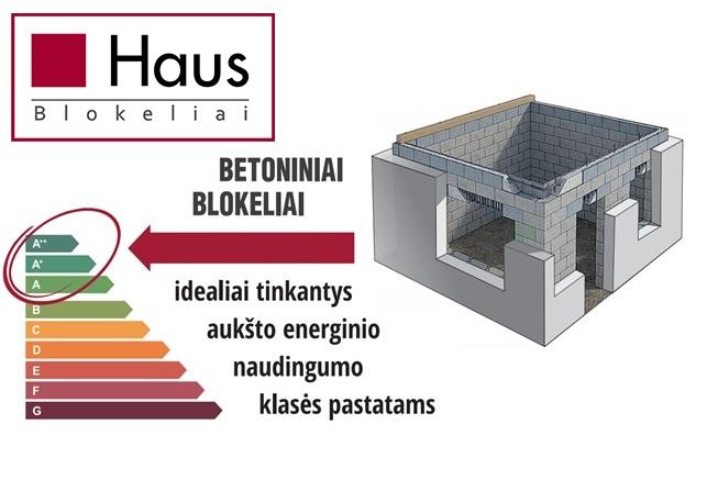 Haus blokeliai a+ namui